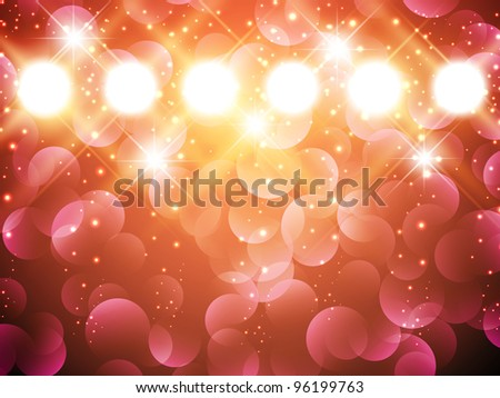 spotlights with stars over holiday background