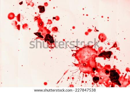 spots of blood on the floor - stock photo