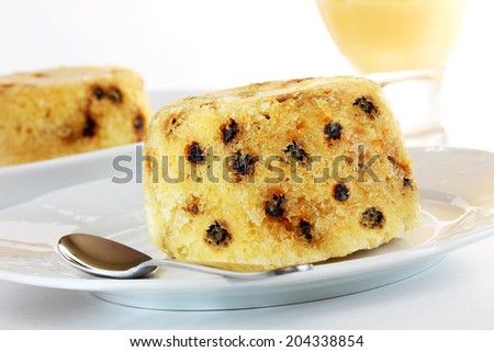 Spotted dick pudding - stock photo