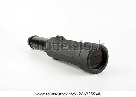Spotting Scope on white background. - stock photo