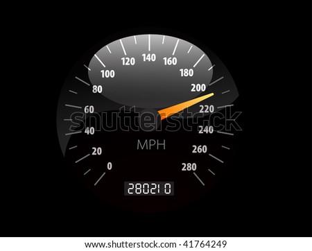 Sppedometer vector illustration - stock photo