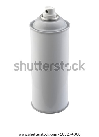Spray bottle isolated on white background, clipping path - stock photo