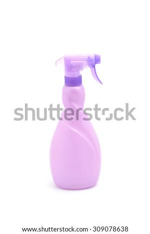 Spray bottle on white background.  - stock photo