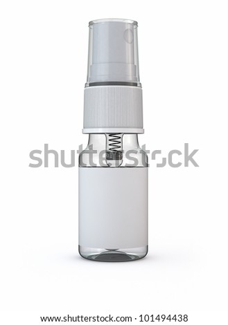 spray isolated on white 3d - stock photo