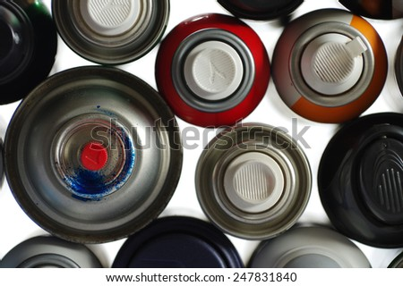 spray paint can 5 - stock photo