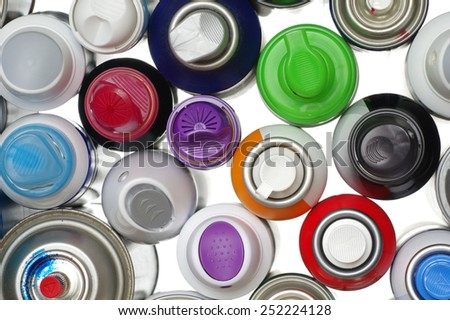 spray paint can isolated objects - stock photo