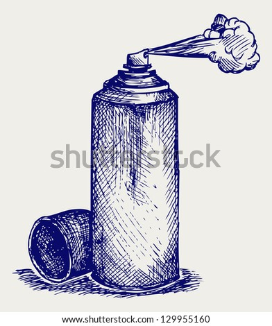 Spray paint. Doodle style. Raster version - stock photo