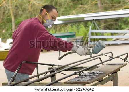spray painter - stock photo