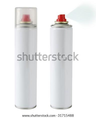 sprays isolated - stock photo