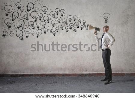 Spreading ideas - stock photo