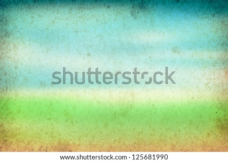 Spring background, green and blue vintage paper texture - stock photo