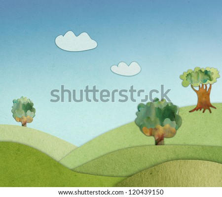 spring background of rough paper - stock photo