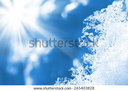 Spring background with shiny melted snow - stock photo