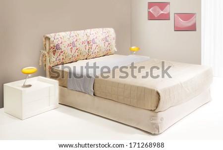 spring bedroom - stock photo