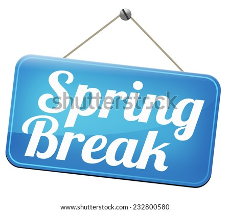 spring break holiday or school vacation     - stock photo