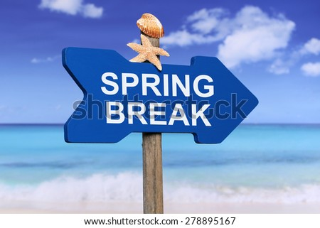 Spring Break on beach and sea in summer on vacation