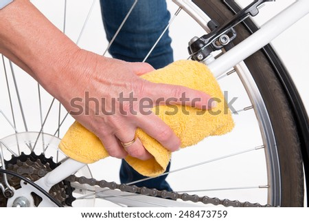 Spring Cleaning Bike Frame Cloth Stock Photo 248473759 - Shutterstock