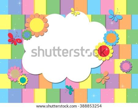 Spring Cloud - Blank Cloud - stock photo