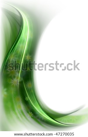 spring concept, green veil of flowers, on a white background - stock photo
