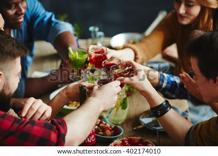 Spring dinner party - stock photo