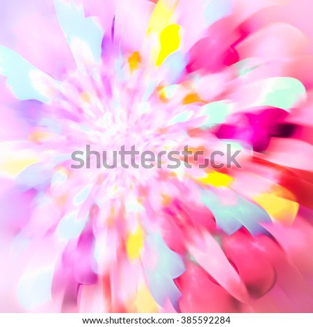 Spring, easy and cheerful abstract background. Texture of soft pink, with glare sparkles golden pearl tones. Pastel abstract background. Feels like a blurred watercolor. - stock photo