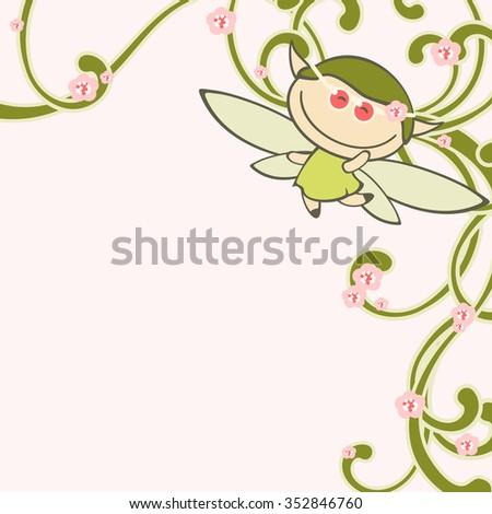 Spring fairy (raster version) - stock photo
