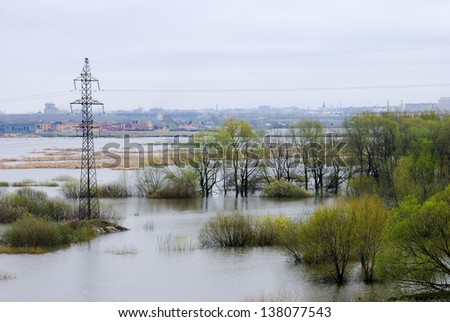 Spring flood in Russia