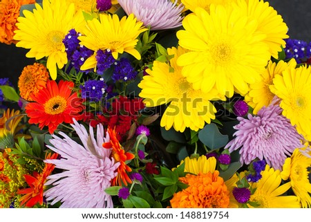 Spring Flower Bouquet - stock photo