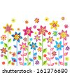 Spring flowers. Raster copy - stock vector