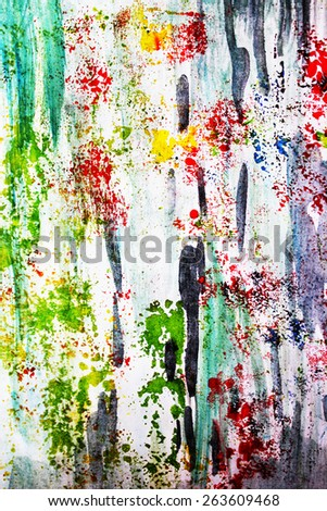 Spring forest abstract or Creative Background - stock photo