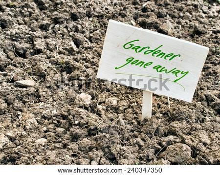 Spring garden clay soil problem.  - stock photo