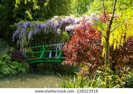 Spring gardens of Giverny, France - stock photo