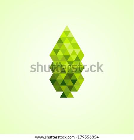 Spring green mosaic leaf - stock photo