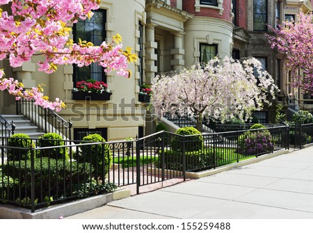 Spring in Back Bay - stock photo