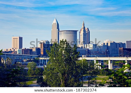 Spring in Cleveland, Ohio, USA. - stock photo