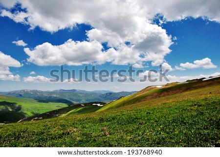 spring in the mountains of Armenia - stock photo