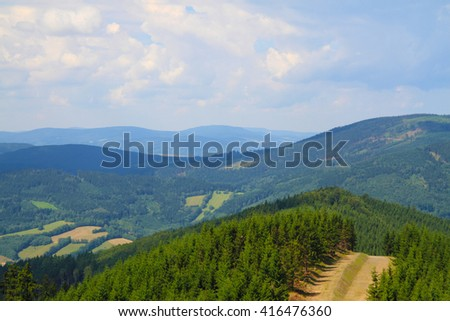spring jeseniky mountains nature (Czech republic, Europe)  - stock photo