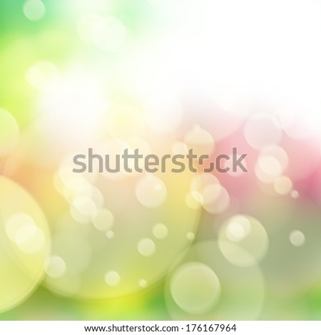spring multicolored defocused  bokeh background with sun beams