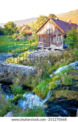 Spring of Gacka river in Lika region of Croatia - stock photo