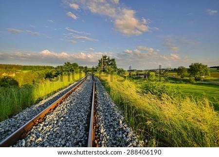 Spring on the railway - stock photo