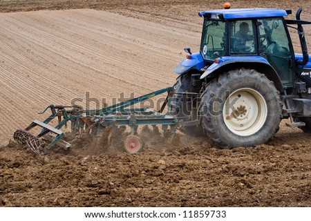 Spring plowing - stock photo