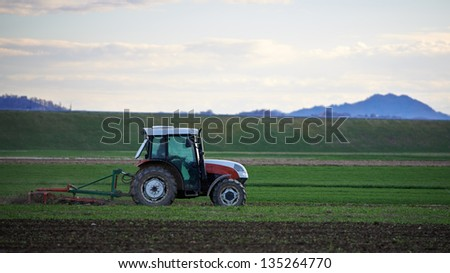 Spring plowing in Slovenia