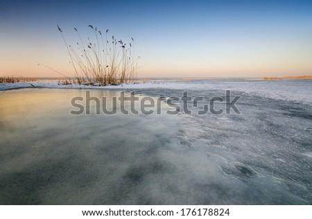 Spring-Polish Vistula Lagoon  - stock photo