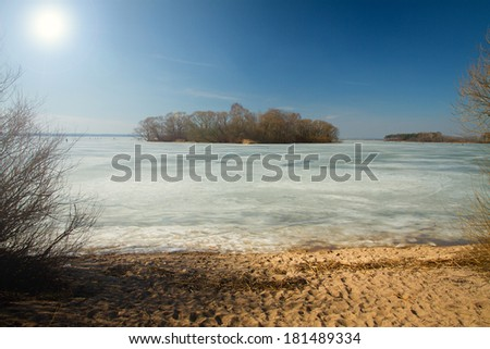 Spring rivers lakes in Europe - stock photo