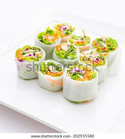 Spring rolls - stock photo