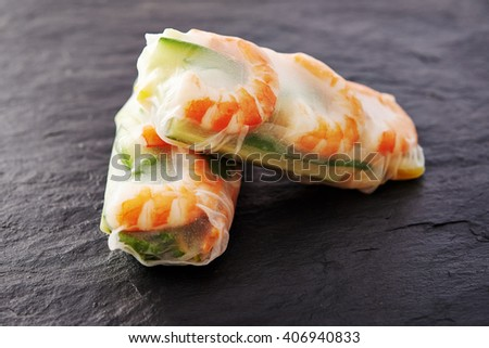 spring rolls with shrimps / vietnamese food