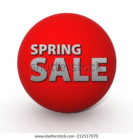 Spring sale circular icon on white background