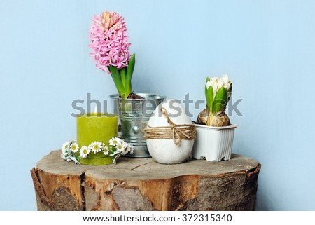 spring still life - stock photo