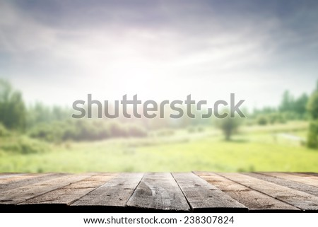 spring time and floor  - stock photo