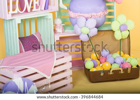 Spring time cute and bright decor